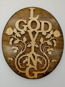 Loving God Cross Plaque - Kripp's Kreations