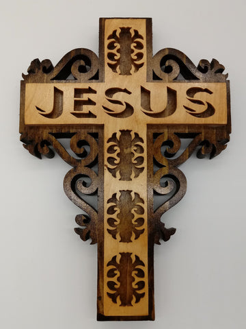 Filigree Jesus Wall Cross - Kripp's Kreations