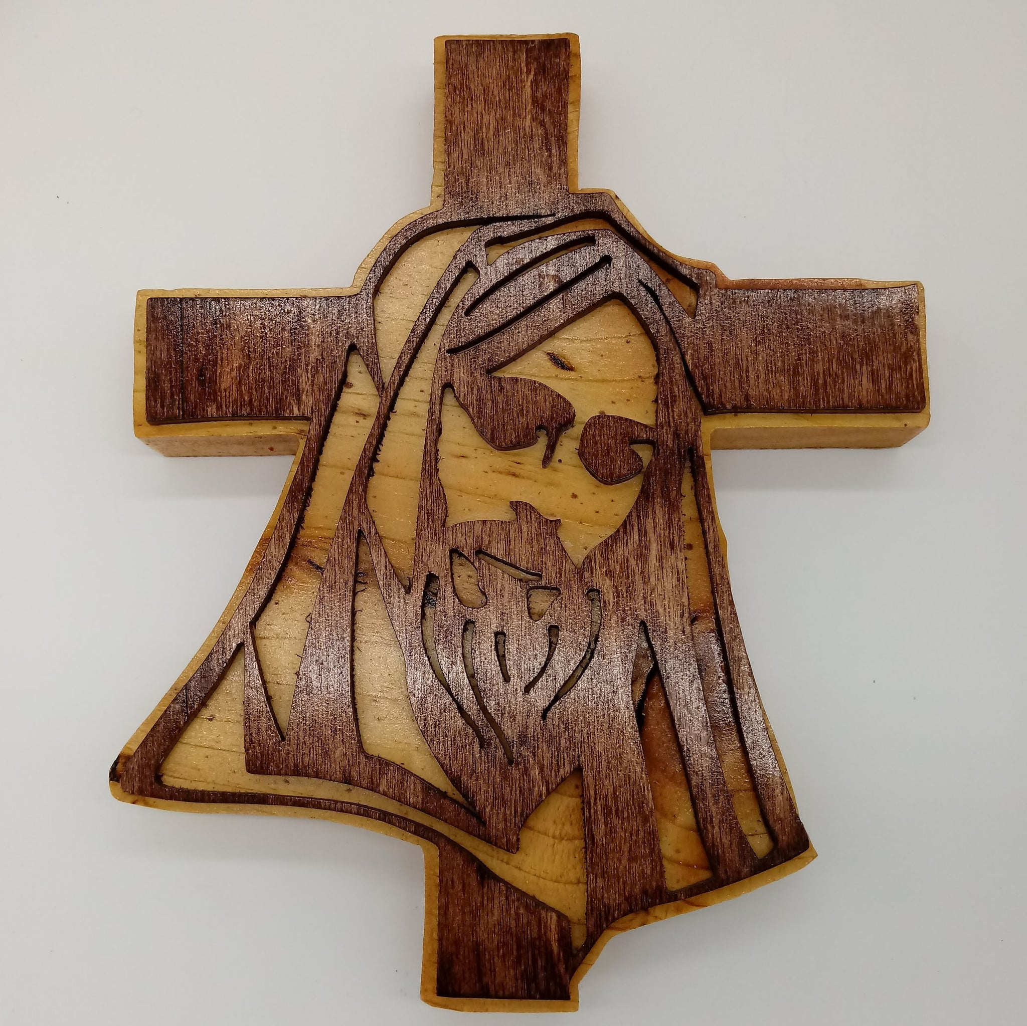 Catholic Hooded Jesus Cross - Kripp's Kreations