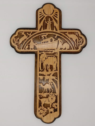 Fretwork Noah's Ark Cross - Kripp's Kreations