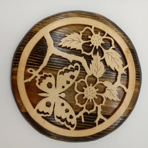 Fluttering Butterfly Flower Plaque - Kripp's Kreations