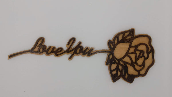 I Love You Flower Wall Hanging - Kripp's Kreations