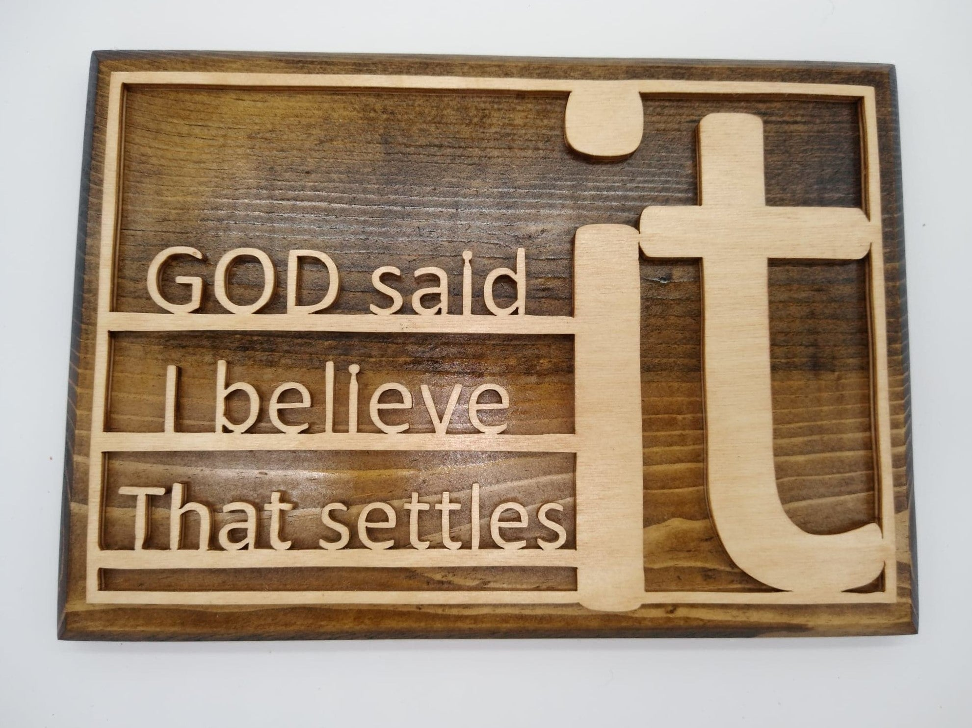God Said It, I Believe It