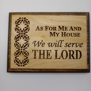 As For My House Wall Hanging - Kripp's Kreations