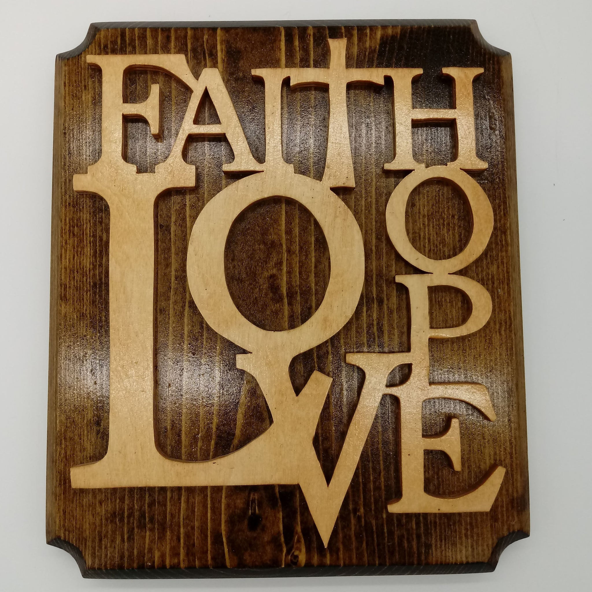 Faith Hope Love Decorative Plaque - Kripp's Kreations