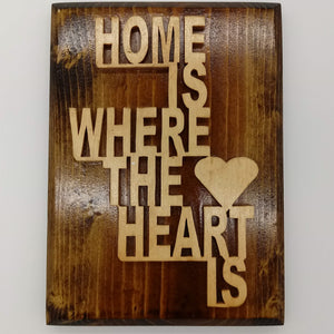 Home is Where the Heart is Plaque - Kripp's Kreations