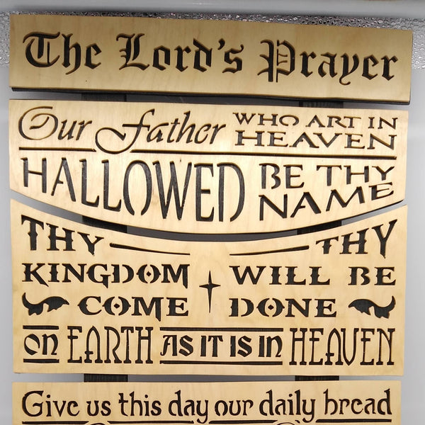 The Lord's Prayer Sectional Plaque
