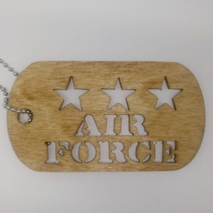Keepsake Air Force Dog Tags - Kripp's Kreations
