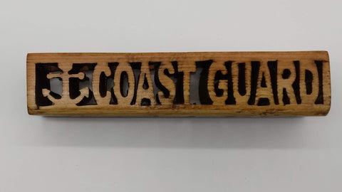 3-D Compound Cut Coast Guard Veteran Cube - Kripp's Kreations