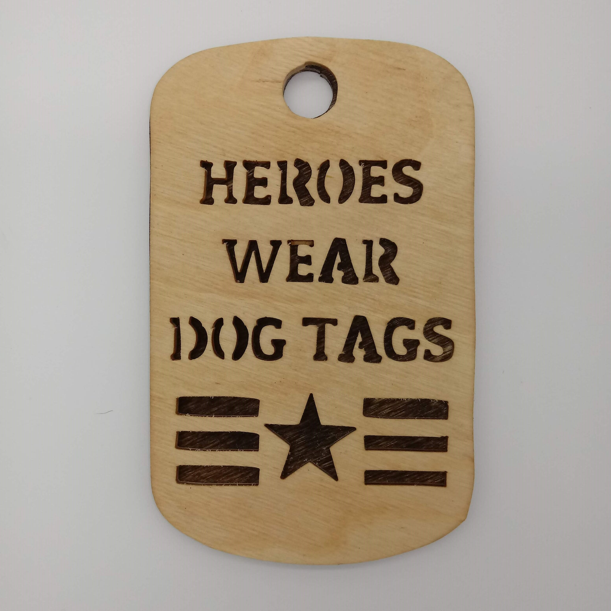 Heroes Wear Dog Tags - Kripp's Kreations