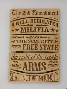 Second Amendment Rights Constitution Plaque - Kripp's Kreations