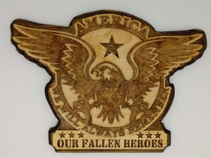 America Eagle Our Fallen Heroes - Kripp's Kreations