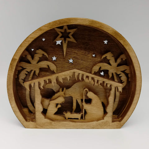Rounded Nativity Scene Shelf Display - Kripp's Kreations