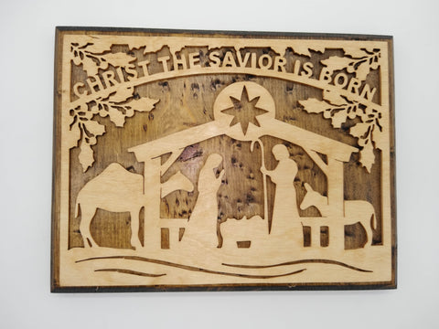 Christ the Savior is Born Nativity Plaque