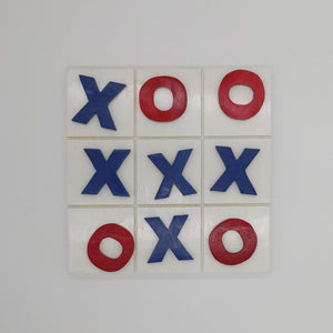 Painted Tic Tac Toe Board Game - Kripp's Kreations
