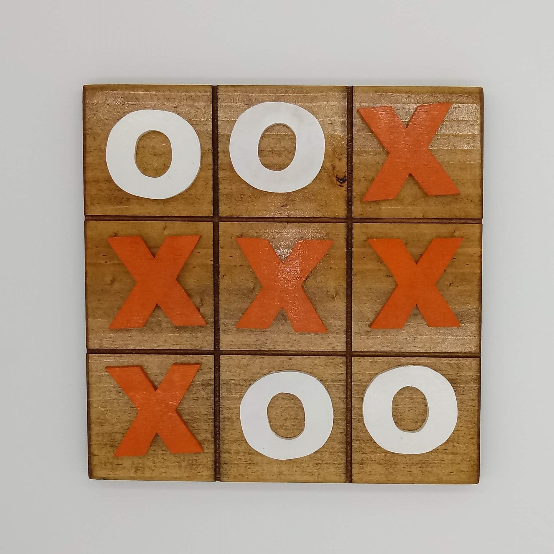 Tic Tac Toe Board University of Texas Longhorns - Kripp's Kreations