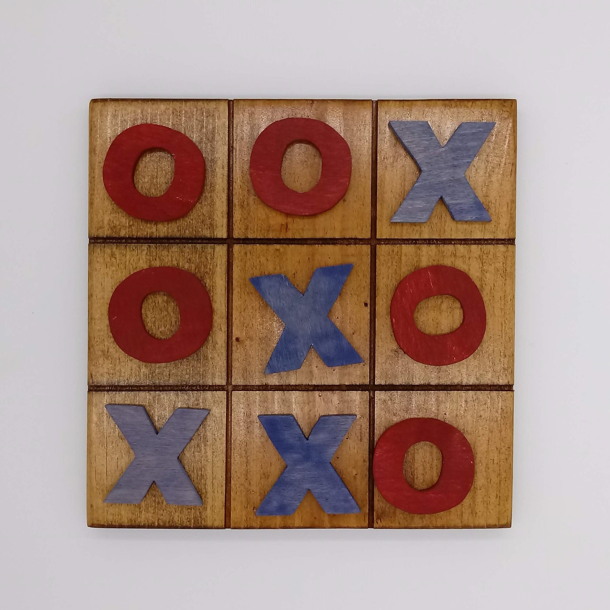 Stained Tic Tac Toe Board Game - Kripp's Kreations