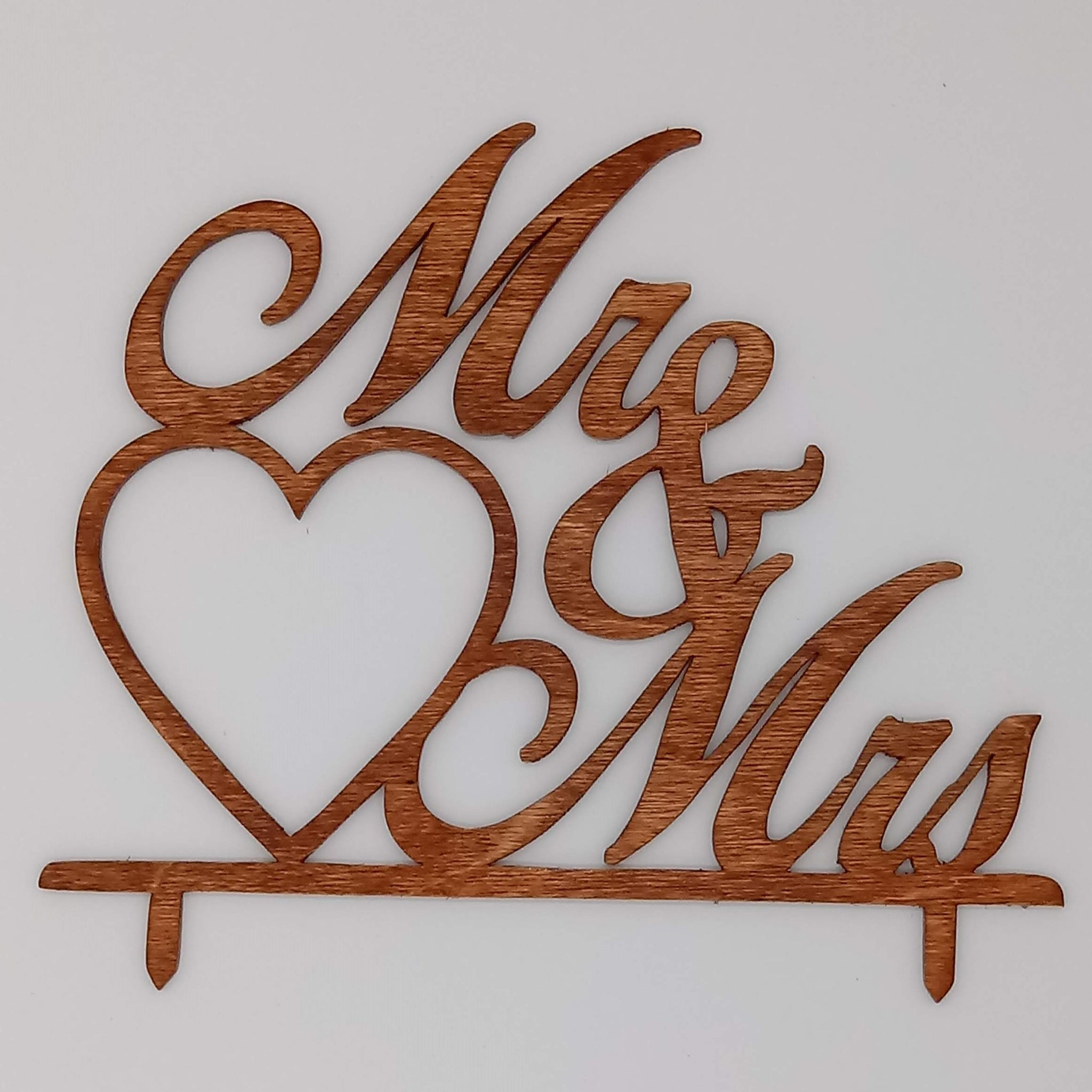 Mr & Mrs Script Cake Topper - Kripp's Kreations