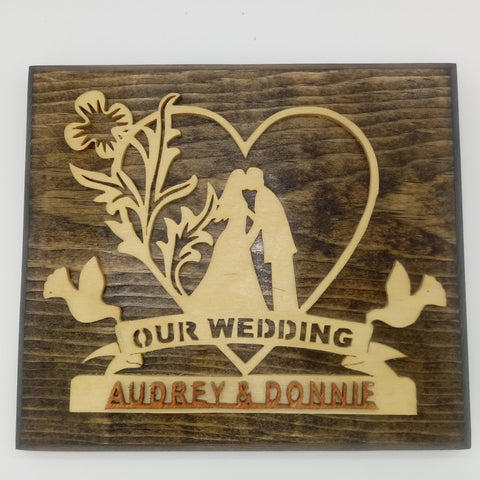 Our Wedding Wall Plaque - Kripp's Kreations