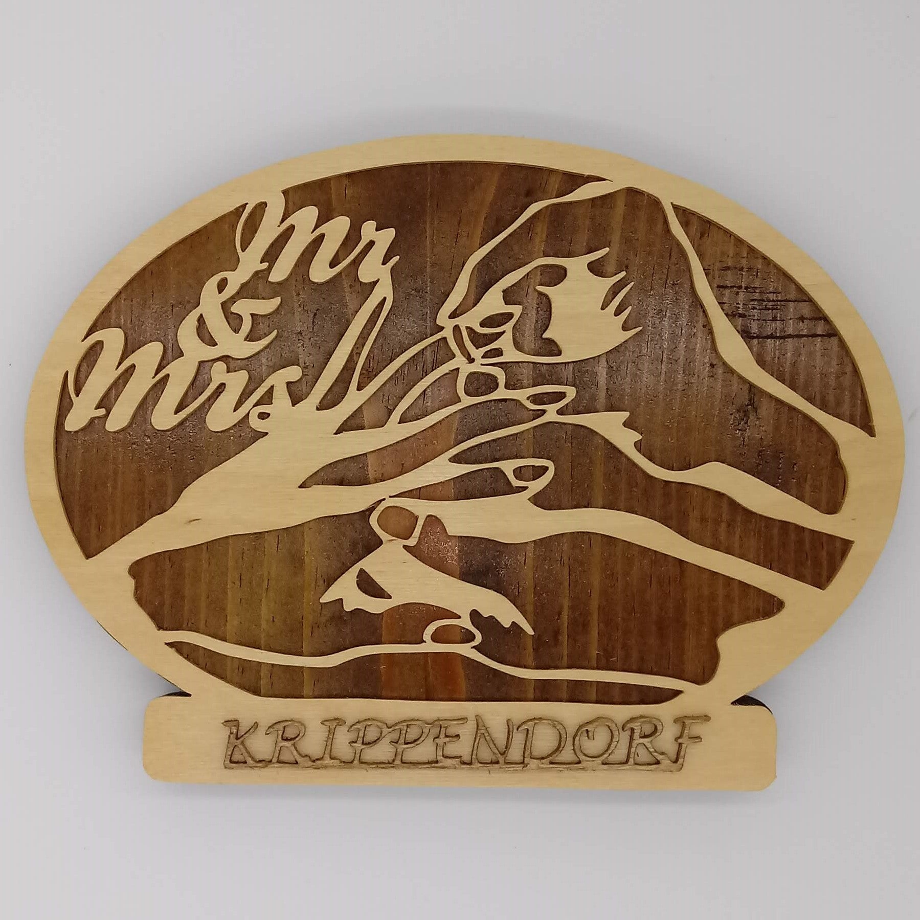Mr & Mrs Wedding Wall Plaque - Kripp's Kreations