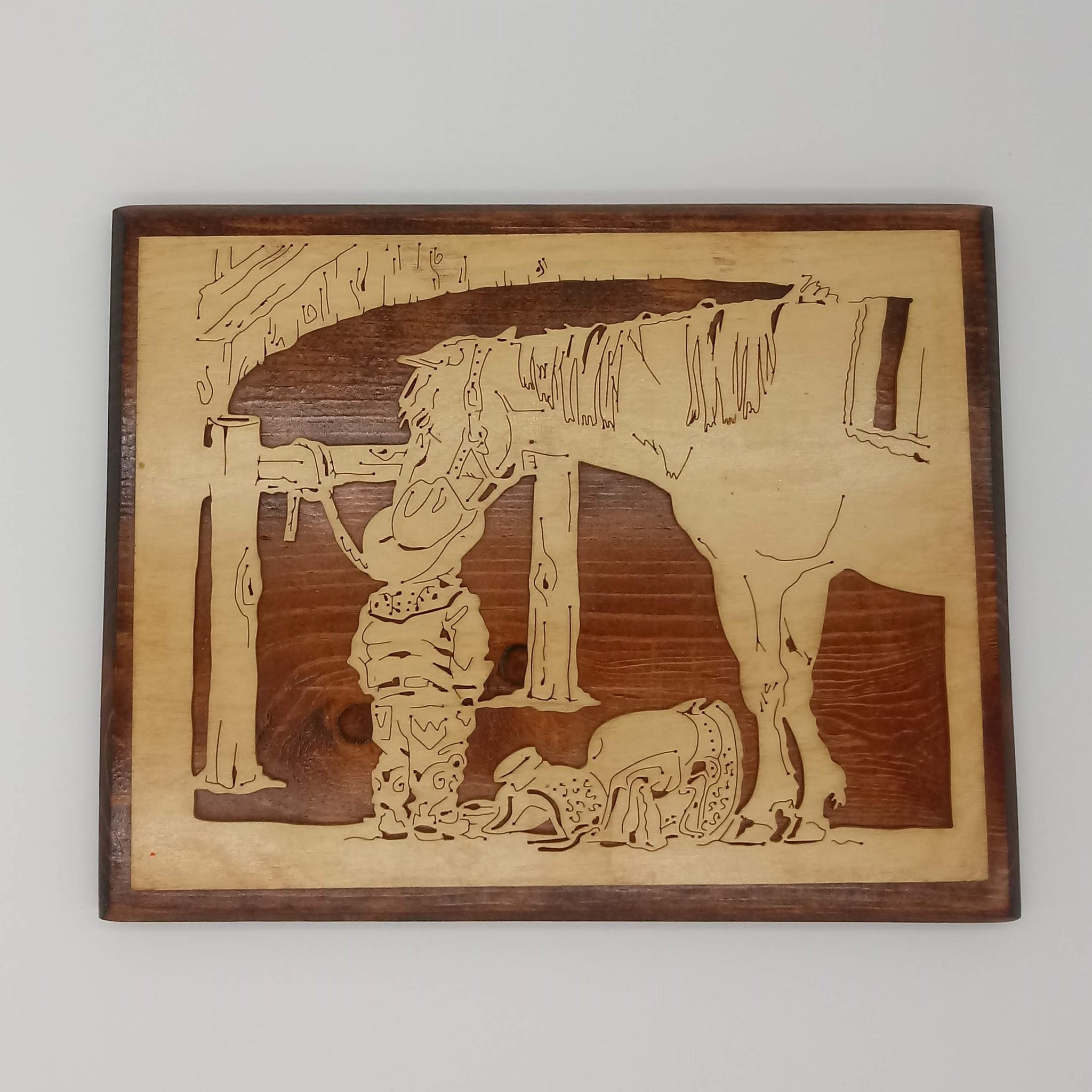Little Cowboy and his Pony Wall Hanging - Kripp's Kreations