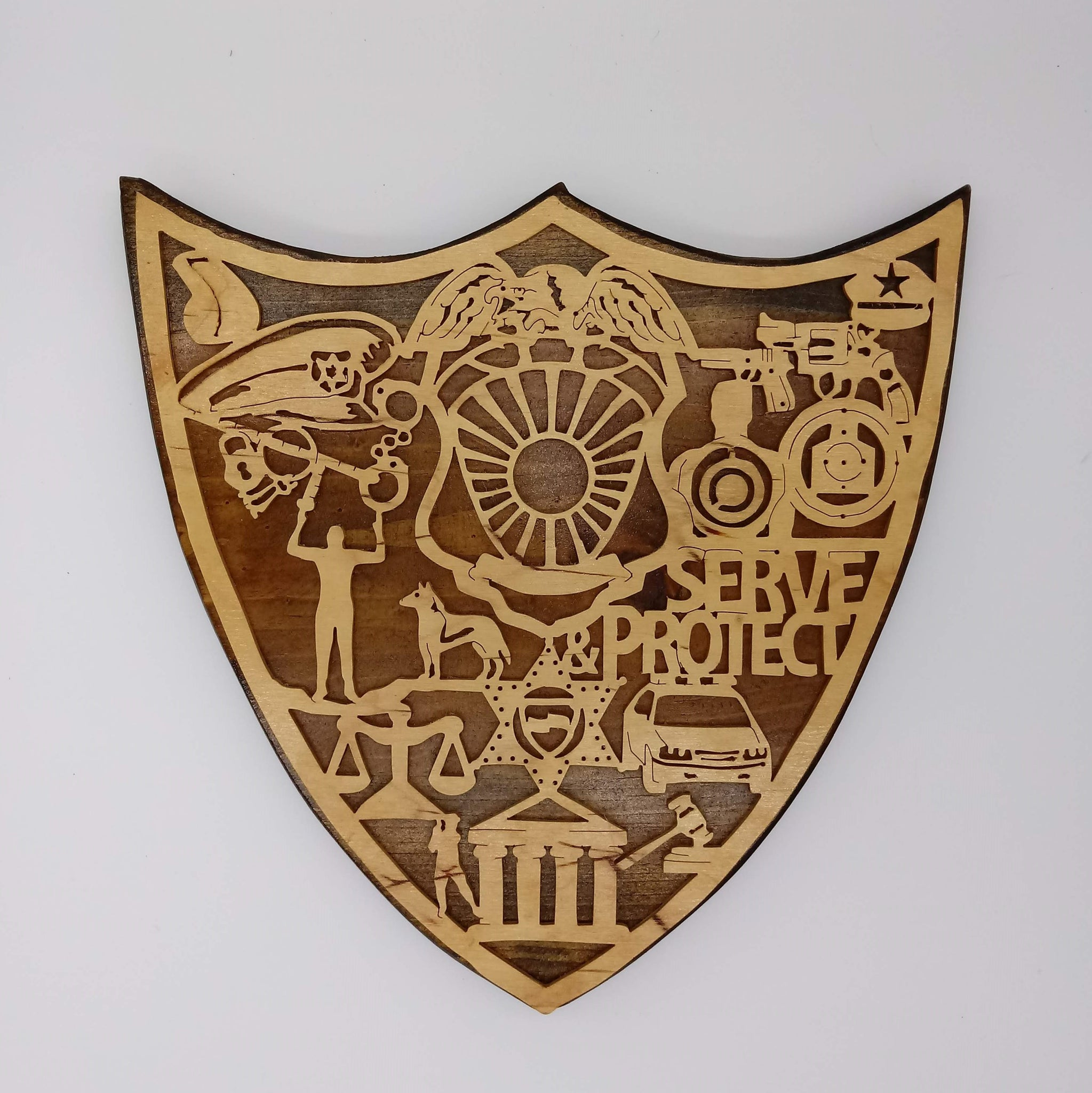 Law Enforcement Officer Shield - Kripp's Kreations