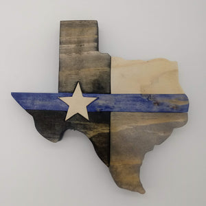 Texas Star Thin Blue Line - Kripp's Kreations