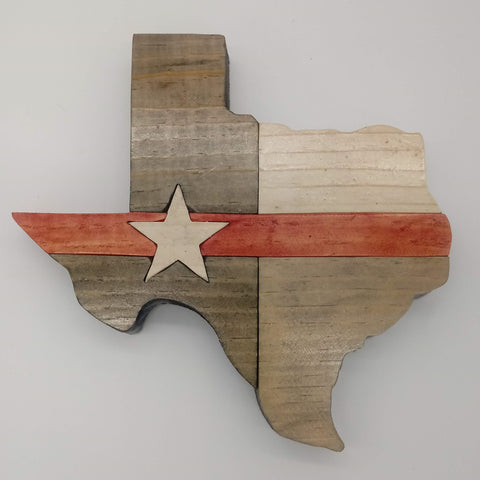 Texas Star Thin Red Line - Kripp's Kreations