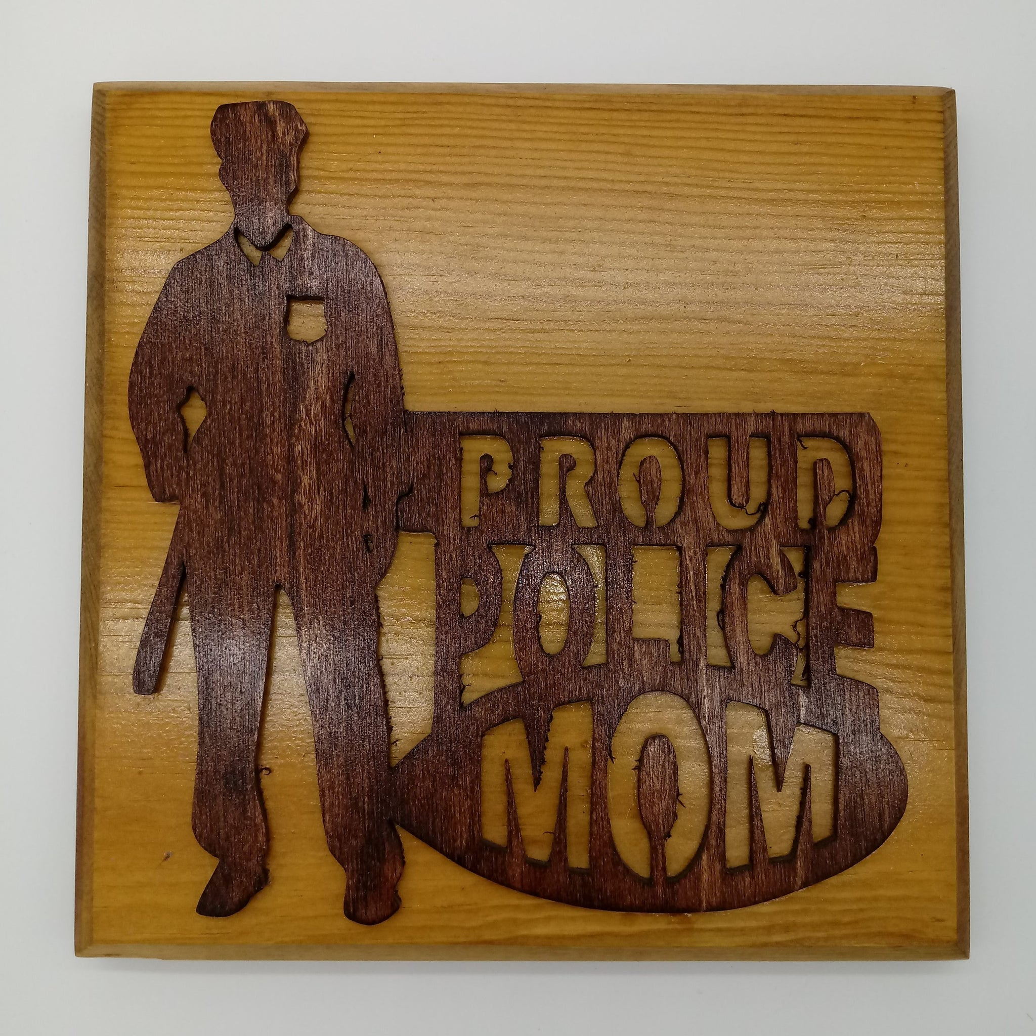 Proud Police Mom Plaque - Kripp's Kreations