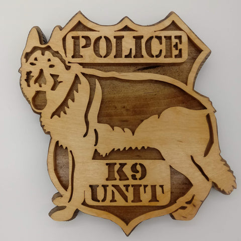 K-9 Unit Keepsake Plaque - Kripp's Kreations