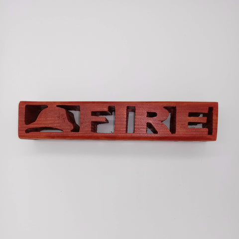 3-D Compound Cut Fire Fighter Cube - Kripp's Kreations