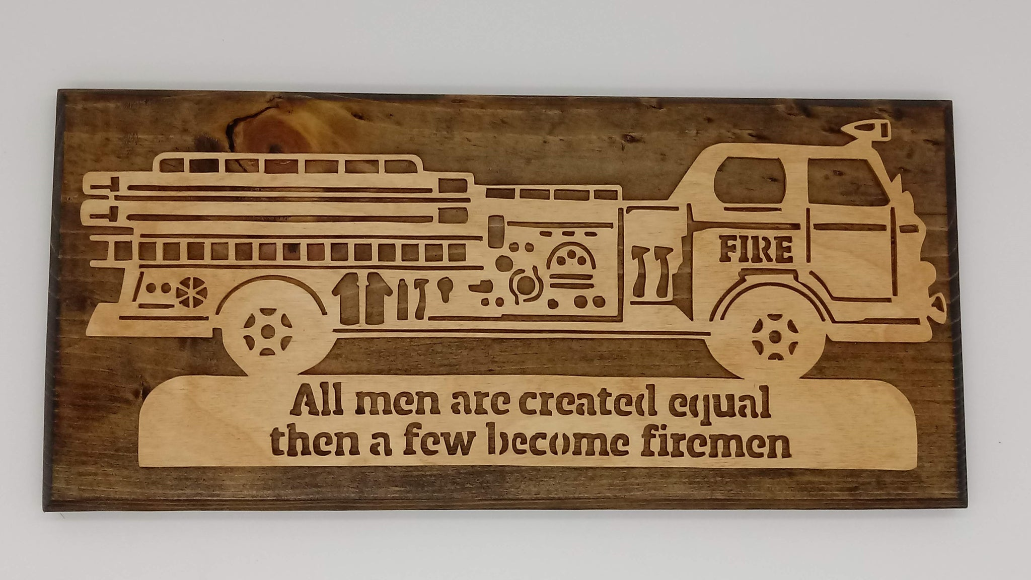 Created Equal Become Firemen Firetruck - Kripp's Kreations