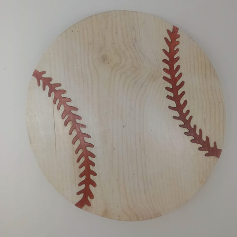 Segmentation Wood Baseball - Kripp's Kreations