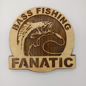 Bass Fishing Fanatic Plaque - Kripp's Kreations