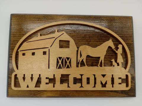 Old Fashioned Barn Welcome Sign - Kripp's Kreations