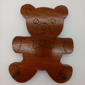 Teddy Bear Novelty Wall Key Hanger - Kripp's Kreations