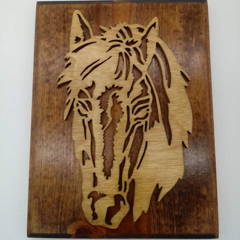 Mustang Horse Hanging Wall Portrait - Kripp's Kreations