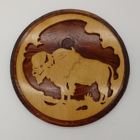 Buffalo Bird Silhouette Western Plaque - Kripp's Kreations