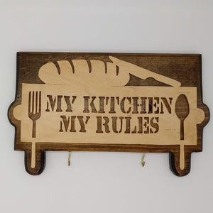 My Kitchen My Rules Pot Holders - Kripp's Kreations