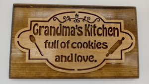 Grandma's Kitchen Wall Plaque - Kripp's Kreations