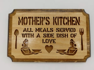 Mother's Kitchen Wall Hanging - Kripp's Kreations
