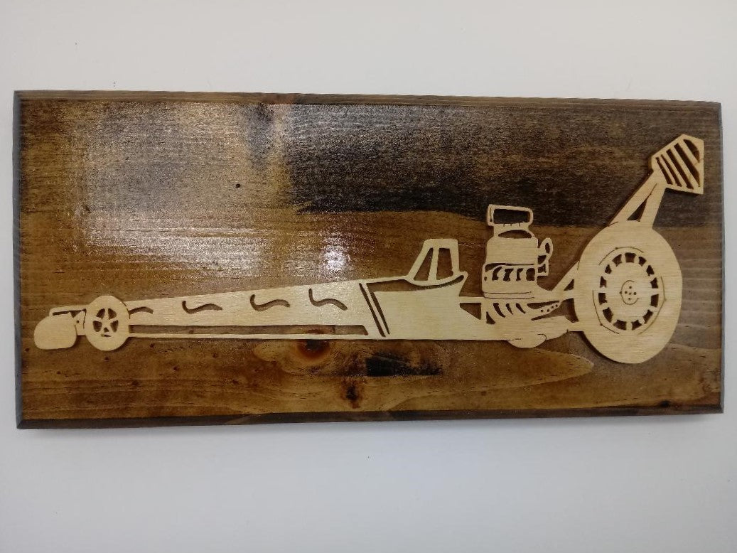 Dragster Custom Funny Car Plaque - Kripp's Kreations