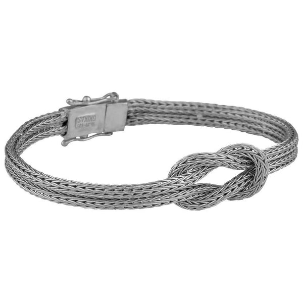 18 Karat White Gold Bracelet with Hercules Knot
