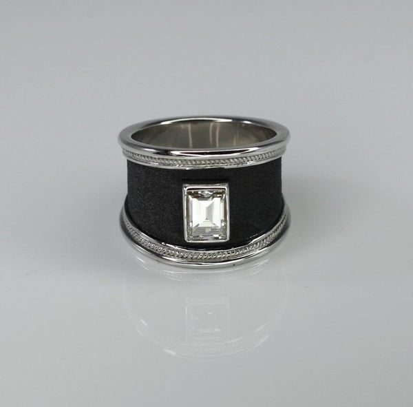 1.16 Carat Diamond Ring in 18 Karat Gold and Black Rhodium