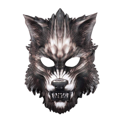 2019 Black Werewolf Mask Halloween Party Cosplay Costume
