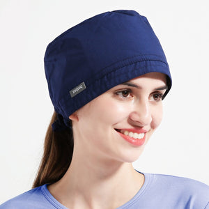Blue Bouffant Scrub Hat Casual Nurse Hat
