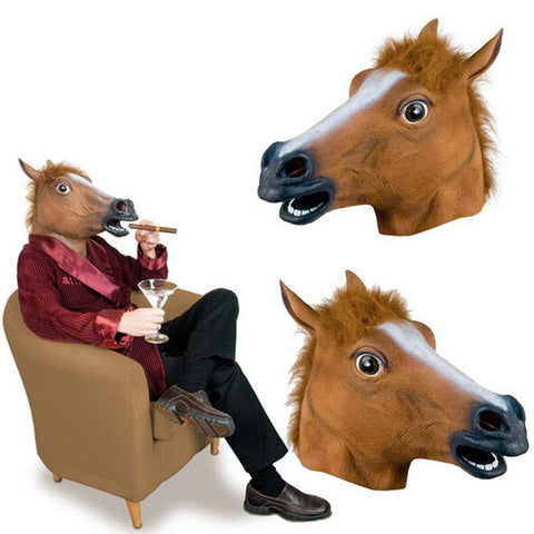 BoJack Horseman Horse Head Latex Mask Prop Halloween Prop