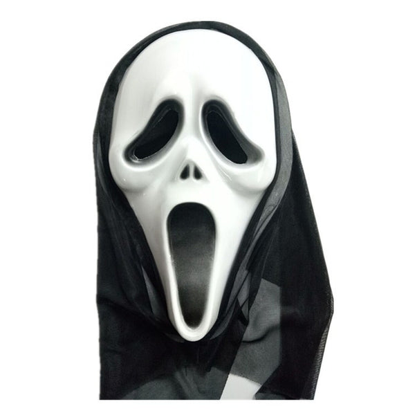 Halloween Faces Shrieking In Torment Masks Costume Party White PVC Mask Props