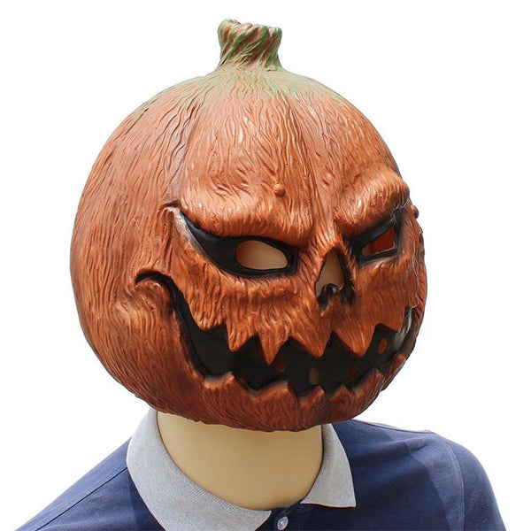 Halloween Pumpkin Scary Latex Mask Costume Prop