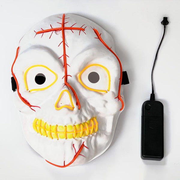 Halloween Scary Pumpkin LED Mask Props Glow In Dark